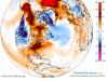 Anomalia temperatur - model GFS